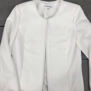Calvin Klein texture cardigan white sweater 14